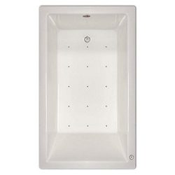 Signature Bath LPI228-A-RD Drop-In Air Injection Bathtub with Stainless Jets – Right Drain ...