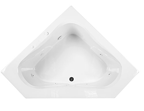 Reliance R6060OCW-W Open Corner Whirlpool Bath, 59.25-Inch by 59.25-Inch by 21.25-Inch, White, White