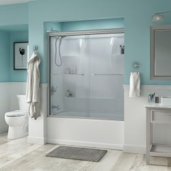 Delta Shower Doors SD3276638 Trinsic 60″ Semi-Frameless Traditional Sliding Bathtub Door i ...