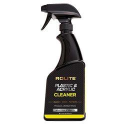 Rolite Plastic & Acrylic Cleaner (16 fl. oz.) for Motorcycle Windshields, Marine Eisenglass, ...