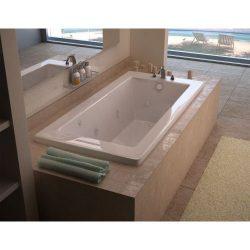 Avano AV3060VNDLX Luxury Suite 60″ Acrylic Air/Whirlpool Bathtub for Drop-In I, White