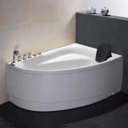 Single Person Corner 59″ x 39.4″ Whirlpool Tub Drain Location: Left