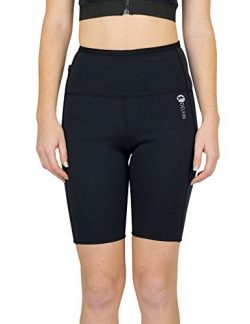 Delfin Spa Women's Heat Maximizing Neoprene Exercise and Anti-Cellulite Shorts, Black, Large