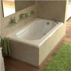 Atlantis Whirlpools 3660m Mirage Rectangular Soaking Bathtub, 36 X 60, Left Or Right Drain, White