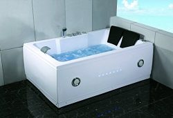 SDI Deals 2 Person Indoor Jetted Hot Tub SPA Hydrotherapy Massage Bathtub w/Bluetooth Model 51A