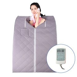 Sauna Box Far Infrared Steam Sauna Portable Folding Steamer-Slimming-Weight-Therapy,For Women (7 ...