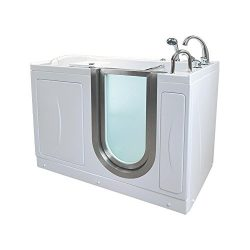 Ella HH3118-HB Royal Acrylic Hydro Massage+Heated Seat Walk-in Bathtub, 32″ x 52″ x  ...