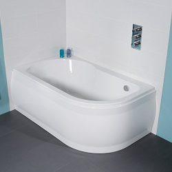 Bath Tub 1550 Corner White Acrylic Small Modern Luxury Left Hand Bathroom Compact Design by Bett ...