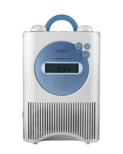 Sony ICF-CD73W AM/FM/Weather Shower CD Clock Radio – White (Discontinued by Manufacturer)