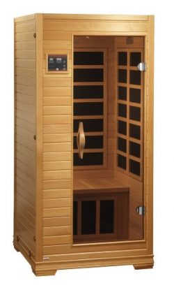 Better Life BL6109 1-2 Person Carbon Infrared Sauna with ChromoTherapy Lighting, Natural Hemlock ...