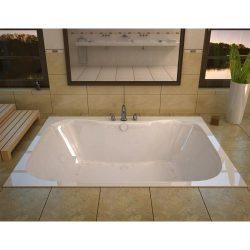 Avano AV4060NDLX Luxury Suite 58″ Acrylic Air/Whirlpool Bathtub for Drop-In In, White