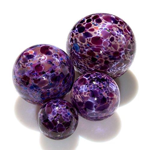 Purple Pond Floats – 3 inches, 4 inches, 5 inches & 6 inches – Blown Glass &#821 ...