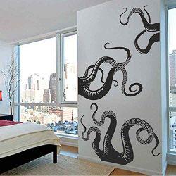 BATTOO Large Kraken/Octopus Tentacles Vinyl Wall Decal – Squid Bathroom Doorway Shower Bat ...