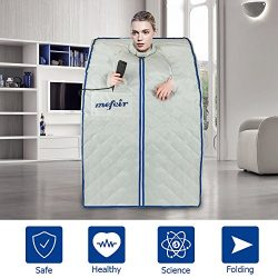Mefeir Portable Far Infrared Sauna Home SPA, Folding Full Body Slimming Loss Weight, Detox Thera ...