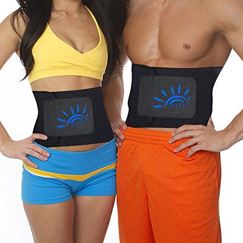FTEOX Waist Trimmer,Waist Trainer Waist Trimmer Belt Weight Loss Wrap Fat Stomach Burner Ab Belt ...