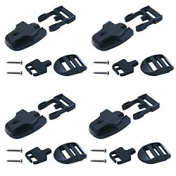Loosco 4 Set Spa Hot Tub Cover Broken Latch Repair Kit have Slot with keys and hardwares for Spa ...