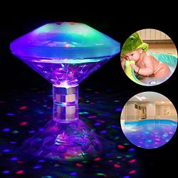 AOSTAR Waterproof Swimming Pool Lights, RGB, 7 Modes, Battery Operated Floating Pool Light Bulb  ...