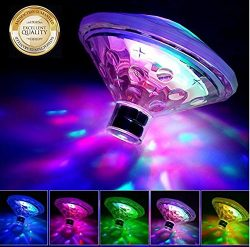 WISSBLUE Waterproof Swimming Pool Lights Floating Underwater LED Pond Lights for Hot Tub, Baby B ...