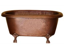 Barclay COTDRN31-AC-AC Picasso Double Roll Top 31 Inch Copper Tub