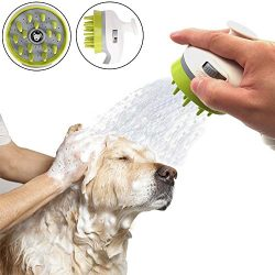 SCENEREAL Dog Shower Sprayer Bath Attachment Handheld Massage Brush Grooming Dogs Shower Bath He ...