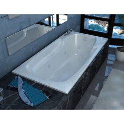 Avano AV3660EDLX Luxury Suite 58-1/2″ Acrylic Air/Whirlpool Bathtub for Drop-I, White