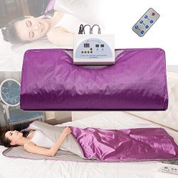 MOPHOTO [UPGRADED Infrared Home Spa Sauna Blanket One Person Sauna for Detox & Weight Loss ( ...