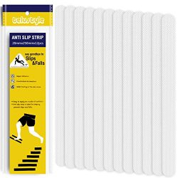 Telustyle Anti Slip Tape Bathtub and Shower Treads, Safety Walk Self Adhesive Non-Slip Tape 12 P ...