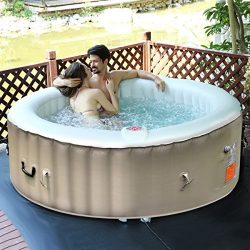 Goplus 4-6 Person Outdoor Spa Inflatable Hot Tub for Portable Jets Bubble Massage Relaxing w/Acc ...