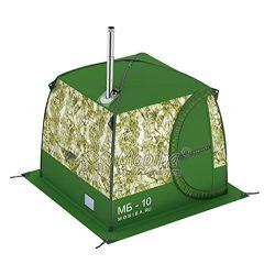 "Mobiba Portable Mobile Sauna Tent MB-10A (3-4 pers.) + Wood Stove ""Mediana-5"""