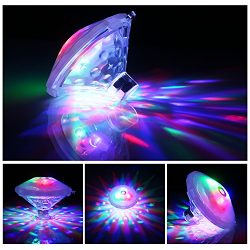 AOND Floating LED Bathtub Light Baby Light Beautiful Projected Dots of Colored Light for Pool, P ...