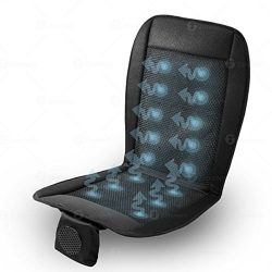 Zone Tech Cooling Car Seat Cushion – Black 12V Automotive Adjustable Temperature Comfortab ...