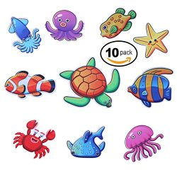 Non-Slip Bathtub Stickers Sea Animals Treads Decal Self Adhesive Safety Anti-Slip Appliques,Smoo ...