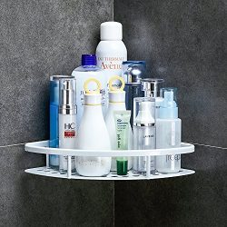 GERUIKE Shower Caddy Corner Shelf Wall Mounted Aluminum Self Adhesive Bathroom Organizer Rustpro ...