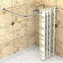 Shower Curtain Rods, L-type, 27,55″ – 39,37″ x 35,43″ – 47,24&#824 ...