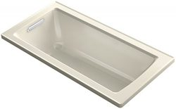 KOHLER K-1946-47 Drop-In Bath with Reversible Drain, 60″ x 30″, Almond