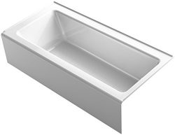 KOHLER 848-0 Bellwether 66″ x 32″ Alcove Bath with Integral Apron, Tile Flange and R ...