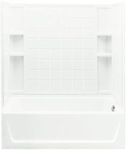STERLING 71120128-0 Ensemble Bath and Shower Kit, 60-Inch x 32-Inch x 76-Inch, Right-Hand, White