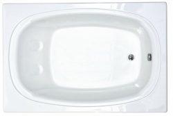 Atlantis Whirlpools 4878c Charleston Rectangular Soaking Bathtub, 48 X 78, Center Drain, White