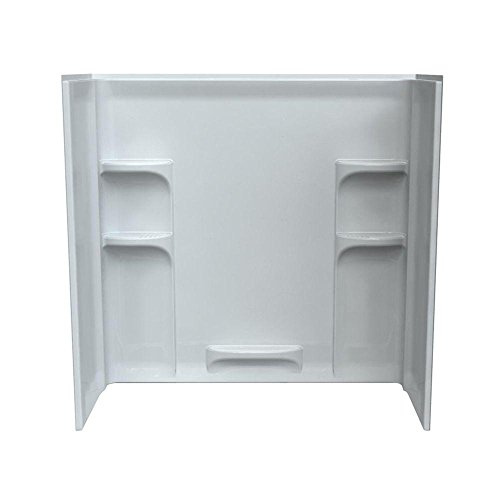 American Standard 3060BW1.011 Ovation 30″ x 60″ x 58″ Three Piece Direct-to-St ...