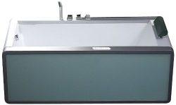 EAGO AM151-L 6-Feet Left Drain Modern Whirlpool Bath Tub with Colored Light Up Glass Panel
