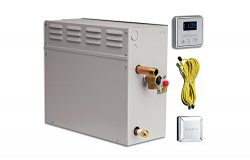 EliteSteam 12 KiloWatt Luxury Home Steam Shower System (Steam Shower Generator, Control, Steam H ...