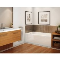 Maax 60 x 32 x 20 Right Drain Regular Alcove Bathtub Rubix 105704-R-000-001 Soaking Tub