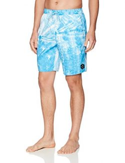 NEFF Men's Daily Hot Tub Board Shorts for Swimming, Crystal Wash Cyan, L