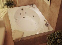 Atlantis Whirlpools 4384vdl Vogue Rectangular Air & Whirlpool Bathtub, 43 X 84, Left Drain,  ...