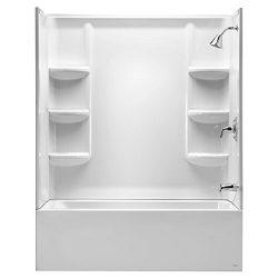 American Standard 2946BW.011 Studio 60″ x 32″ Bathtub Wall Set, Arctic