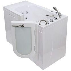 Ella OA3252H-R Monaco Acrylic Hydro Massage Walk-in Bathtub with Right Outward Swing Door, Therm ...