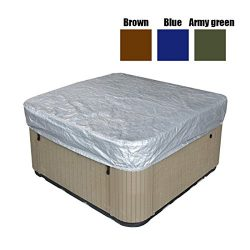 dDanke Oxford Fabric All-Seasons Square Hot Tub Cover Square Spa Cover for Outdoor Sun Protectio ...