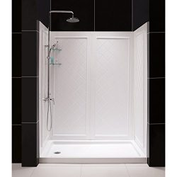 DreamLine SlimLine 30″ by 60″ Shower Base Right Hand Drain and QWALL-5 Shower Backwa ...