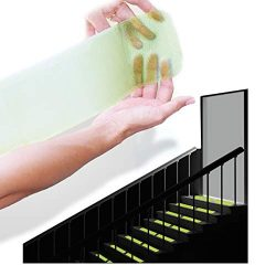 "StepStrips StepTips Anti Slip Tape ""Stair Treads"" Clear & Glow in the Dark For S ..."