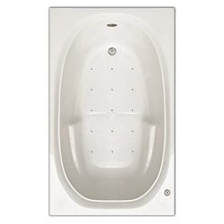 Signature Bath LPI221-A-RD Drop-In Air Injection Bathtub with Stainless Jets – Right Drain ...